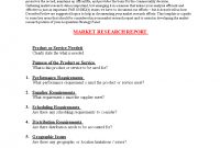 Market Research Report Format  Templates At Allbusinesstemplates with Market Research Report Template