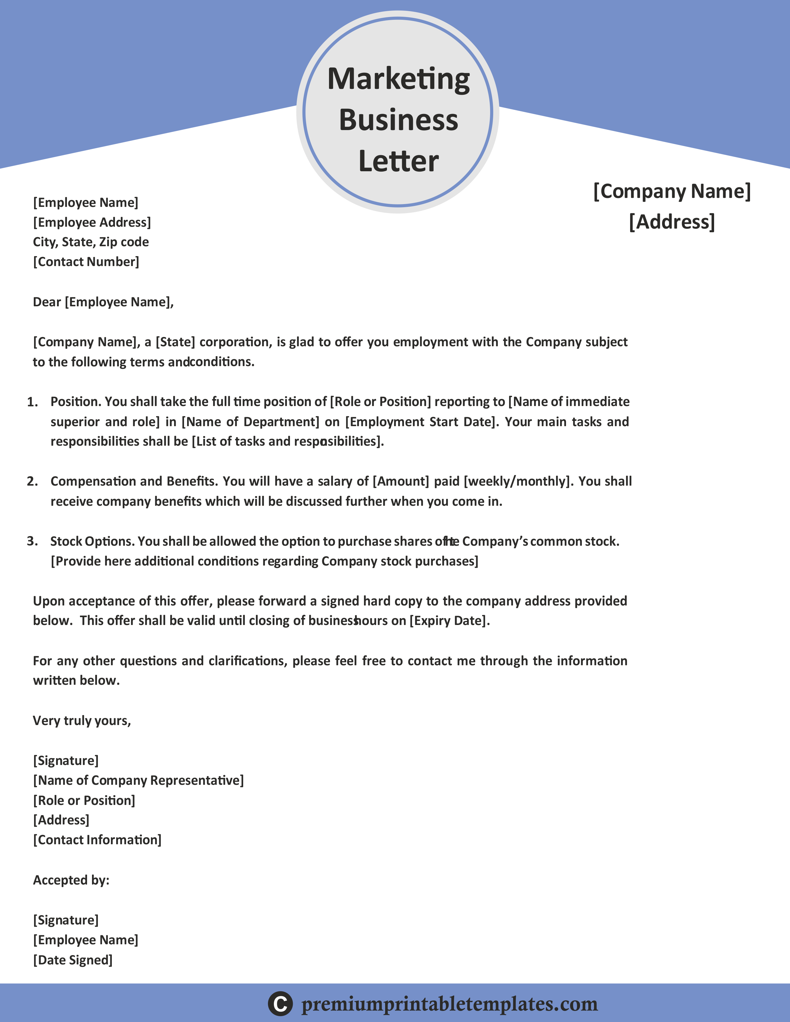 Marketing Business Letter  Business Letter Templates  Business Throughout Business Promotion Email Template
