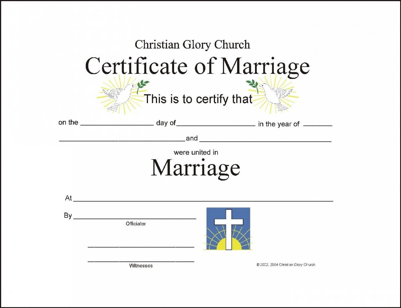 Marriage Certificate Template – Certificate Templates Regarding Certificate Of Marriage Template