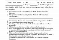 Marriage Contract Templates Standart Islamic Jewish ᐅ in Islamic Prenuptial Agreement Template
