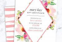 Mary Kay Gift Certificate Find It Only At Wwwthepinkbubbleco with regard to Mary Kay Gift Certificate Template