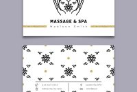Massage And Spa Therapy Business Card Template Vector Image regarding Massage Therapy Business Card Templates