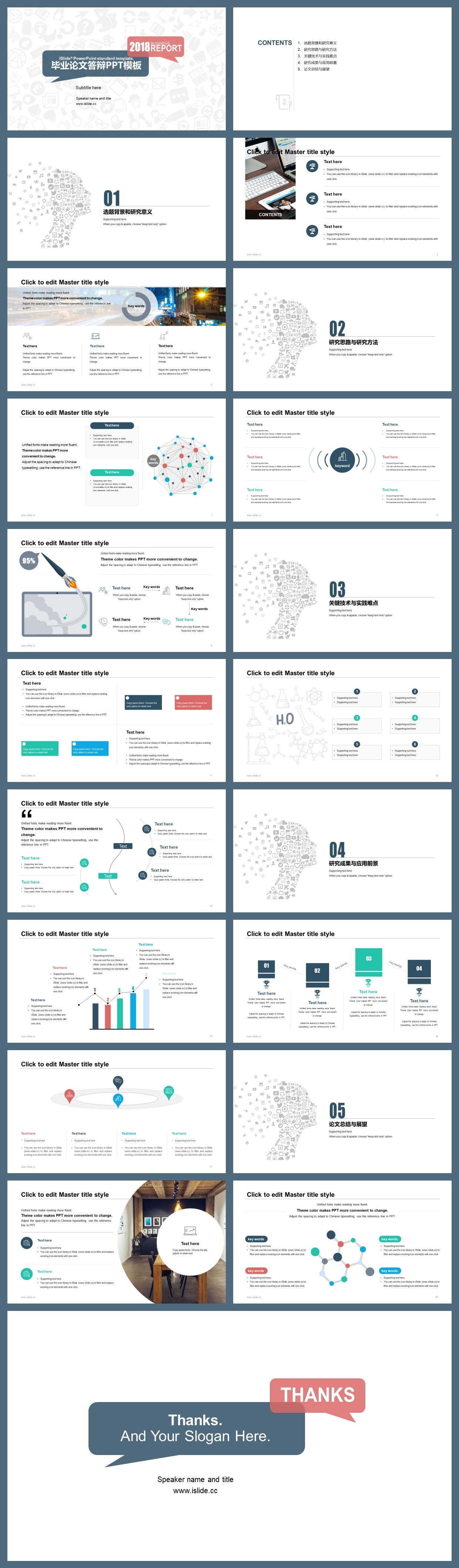 Master Thesis Defense Powerpoint Template – Just Free Slides Throughout
