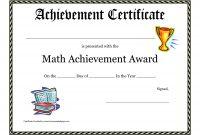 Math Achievement Award Printable Certificate Pdf  Math Activites throughout Superlative Certificate Template