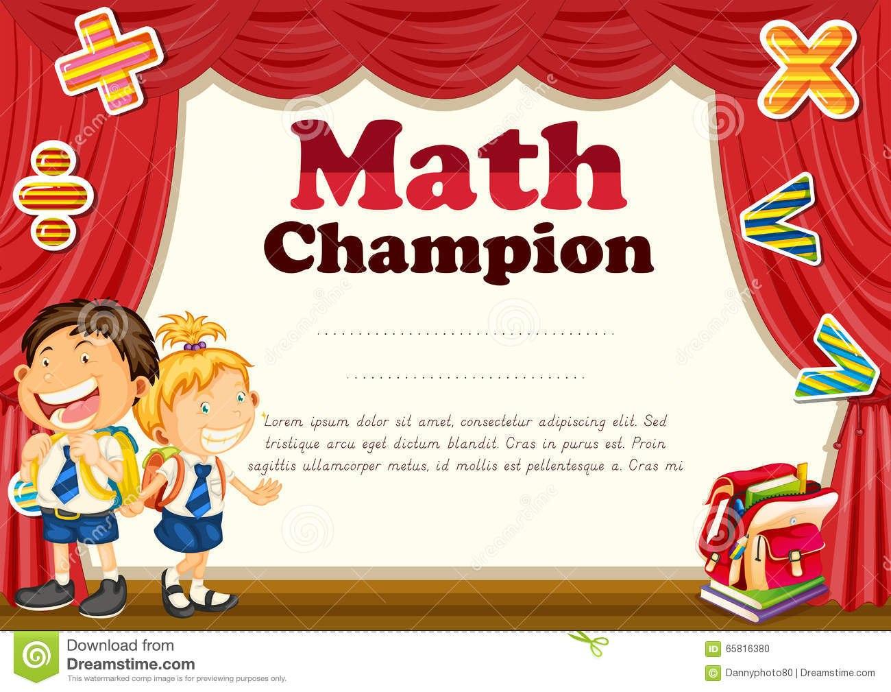 Math Certificate Template  Sansurabionetassociats Inside Math Certificate Template