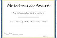 Math Certificate Template  Sansurabionetassociats within Math Certificate Template