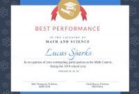 Math Contest Certificate Template  Visme for Math Certificate Template