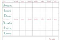 Meal Plan Template Word Weekly Weekmealplanner ~ Tinypetition inside Weekly Menu Planner Template Word