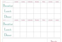 Meal Planning Templates Weekly Plan Template Weekmealplanner in Weekly Meal Planner Template Word