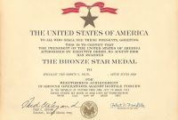 Medals Pertaining To Army Good Conduct Medal Certificate Template