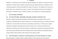 Mediation V Litigation  Law Mediation  Studocu intended for Mediation Outcome Agreement Template