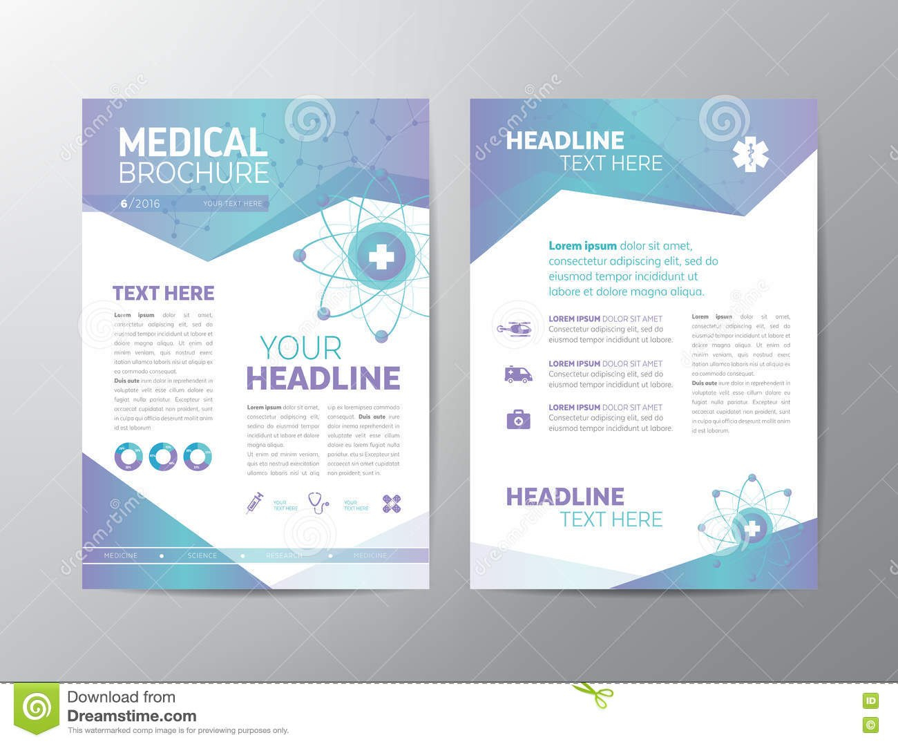Medical Brochure  Leaflet Stock Vector Illustration Of Creative With Regard To Healthcare Brochure Templates Free Download