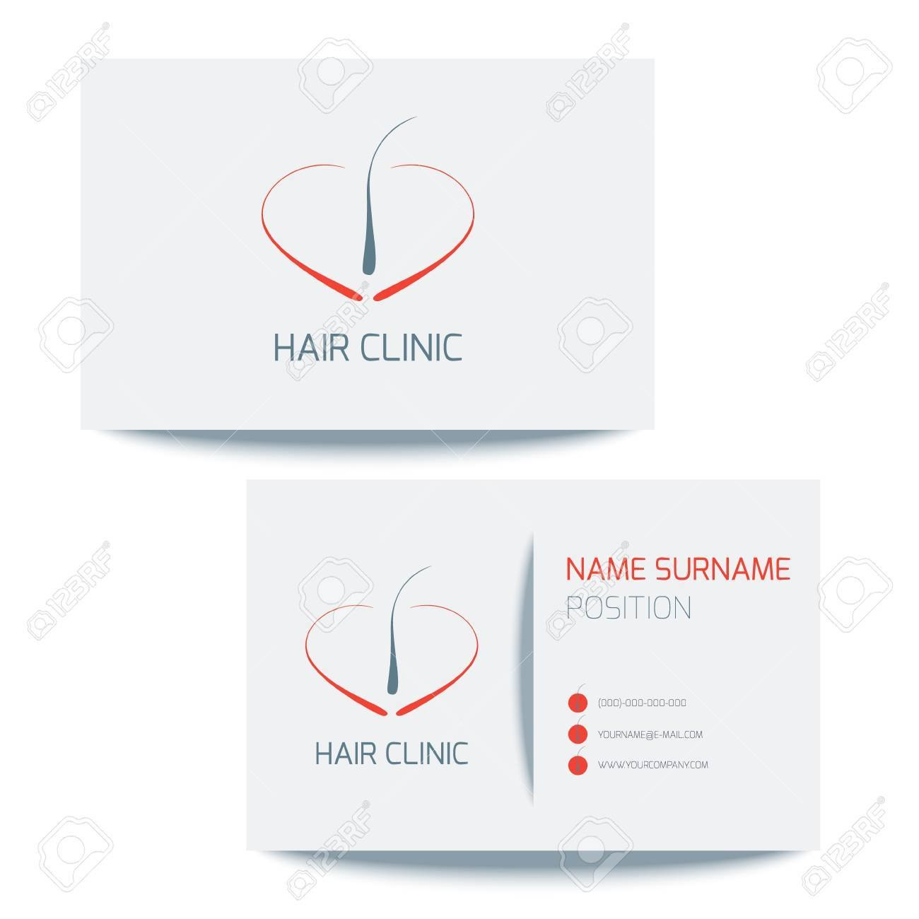 Medical Business Card Template With Hair Follicle Icon Vector Throughout Medical Business Cards Templates Free