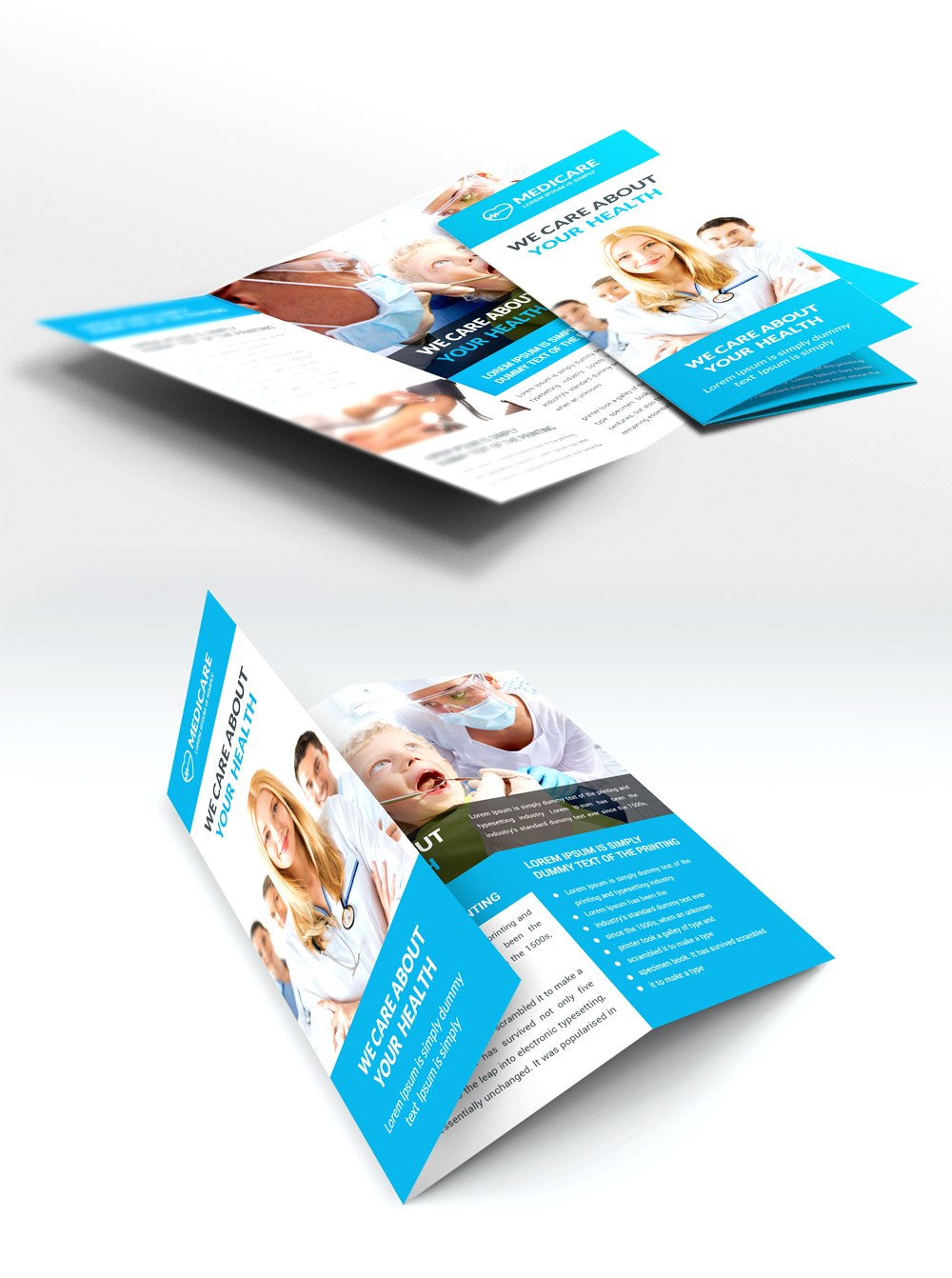 Medical Care And Hospital Trifold Brochure Template Free Psd  Free With Healthcare Brochure Templates Free Download