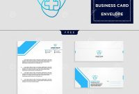 Medical Cross Logo Template And Free Letterhead Envelope Business with regard to Business Card Letterhead Envelope Template