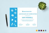 Medical Internship Certificate Design Template In Psd Word with regard to Pages Certificate Templates
