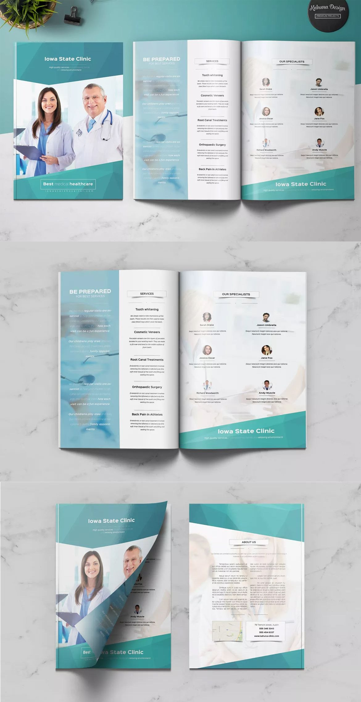Medical Multipurpose Brochure Template Indesign Indd  A  Us With Letter Size Brochure Template