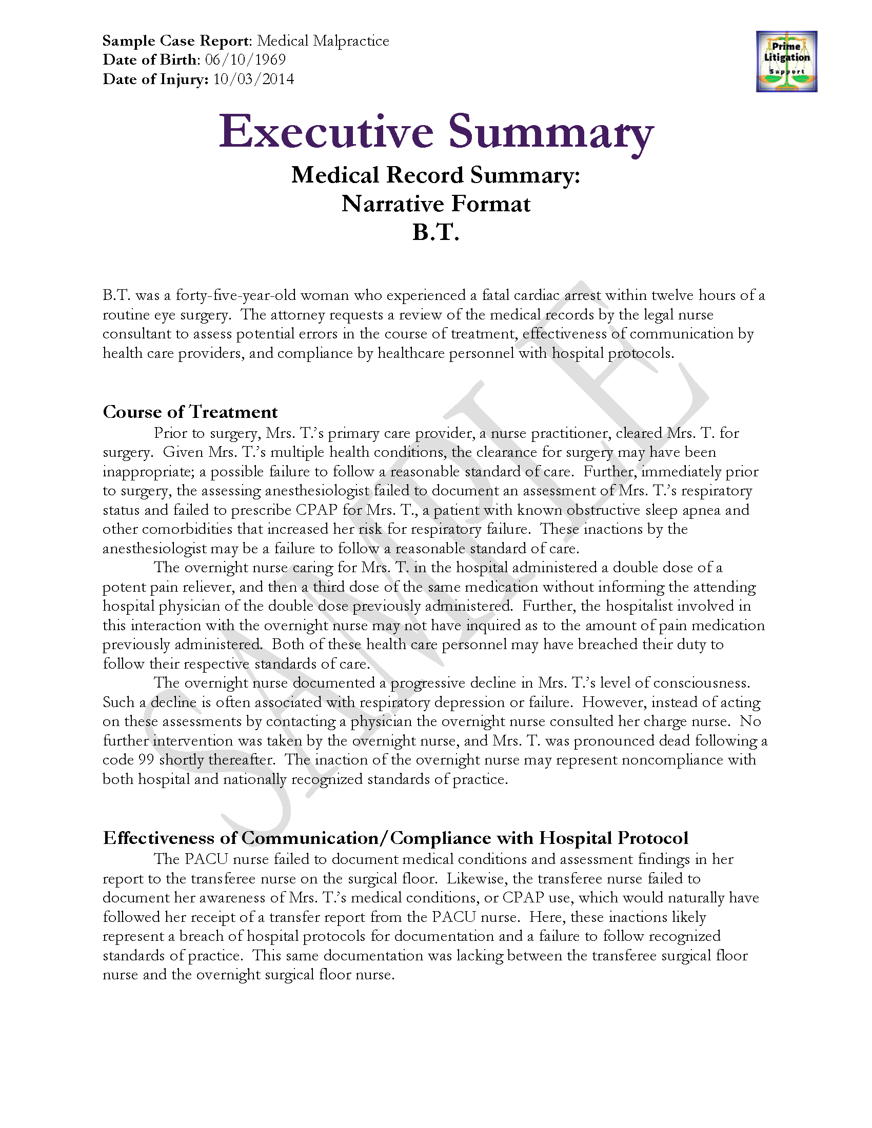 Medical Record Samples  Sansurabionetassociats Pertaining To Medical Legal Report Template