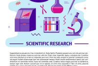 Medical Research Banner Template In Flat Style Vector Image for Medical Banner Template