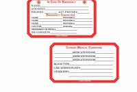 Medication Wallet Card Template  Template Modern Design in Medical Alert Wallet Card Template