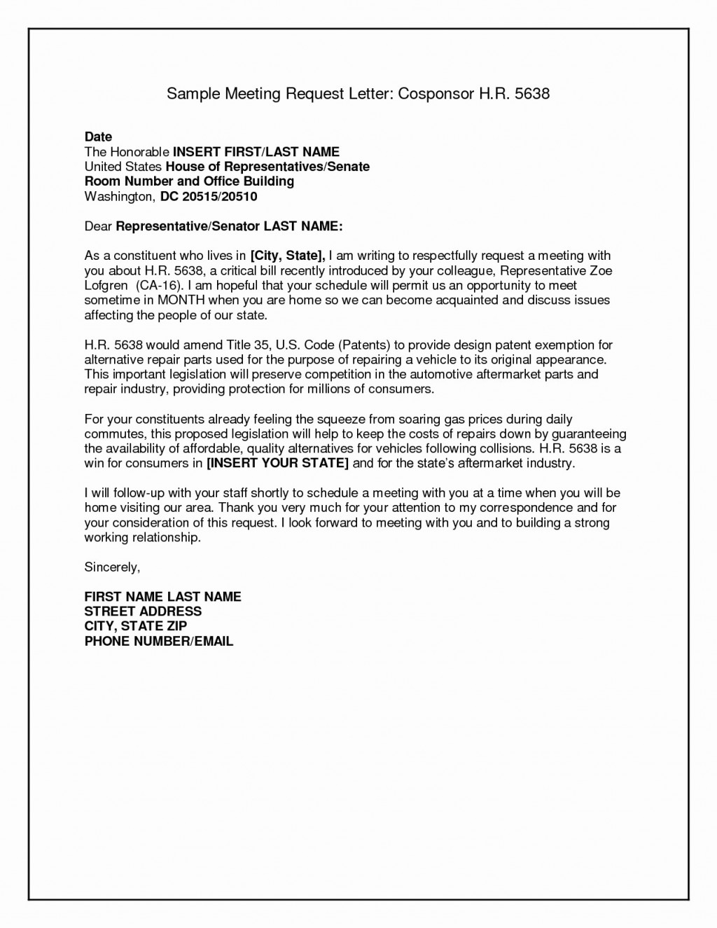 Meeting Request Email Template Sample Letter Format For Valid Within Business Meeting Request Template
