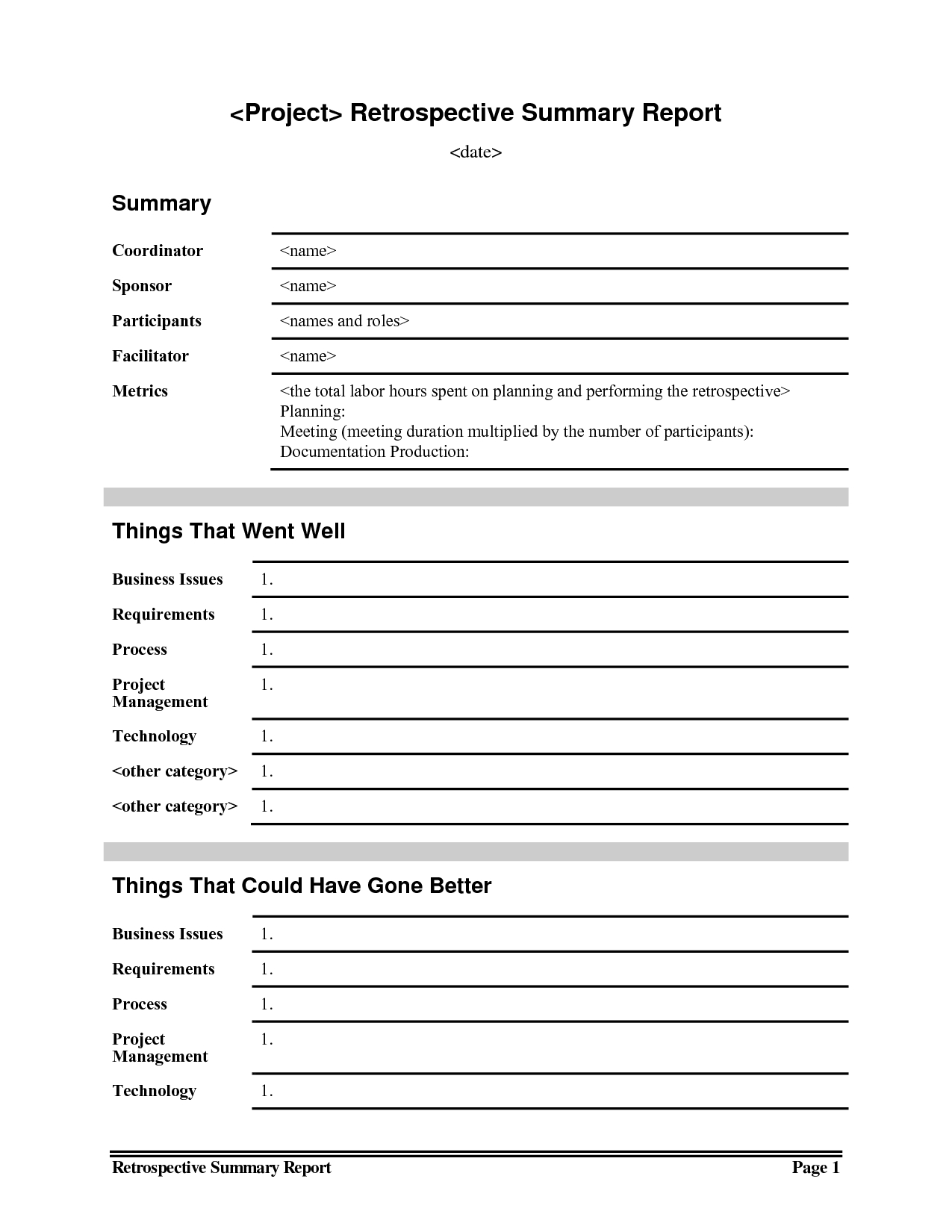 Meeting Summary Report Intended For Conference Report Template