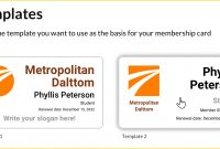 Membership Cards  Wild Apricot Help throughout Template For Membership Cards