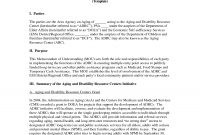 Memorandum Of Agreement Template Exceptional Ideas Sample Letter for Memorandum Of Agreement Template Army