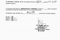 Memorandum Of Understanding Template Army New Agreement Elegant in Memorandum Of Agreement Template Army