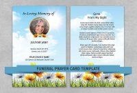 Memorial Prayer Card Template  Funeral Prayer Card Editable Ms pertaining to Prayer Card Template For Word
