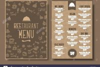 Menu Template For Cafe Or Restaurant In A Retro Style Design  A for Menu Template For Pages