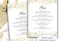 Menu Template X  Editable Text Microsoft Word Menu Card Template pertaining to Wedding Menu Templates Free Download