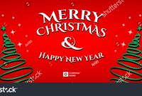 Merry Christmas Banner Template Card Layout Stock Vector Royalty with regard to Merry Christmas Banner Template