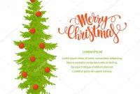 Merry Christmas Banner Template — Stock Vector © Barkarola with Merry Christmas Banner Template