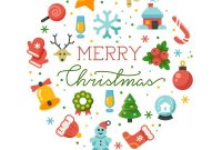Merry Christmas Round Banner Template With Vector Image throughout Merry Christmas Banner Template