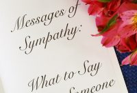Messages Of Sympathy What To Say When Someone Dies  Holidappy intended for Sorry For Your Loss Card Template
