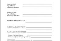 Mexican Marriage Certificate Translation Template  Template pertaining to Birth Certificate Translation Template