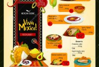 Mexican Menu Vector Template For Restaurant Stock Vector intended for Mexican Menu Template Free Download