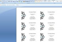 Microsoft Business Card Template Ideas Word For Cards Best Of throughout Business Card Template Word 2010