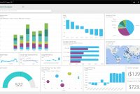 Microsoft Power Bi A Powerful Cloud Based Business Analytics Service throughout Business Intelligence Powerpoint Template