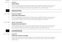 Microsoft Word Resume Template Cvfolio Best  Resume Templates For with Resume Templates Microsoft Word 2010