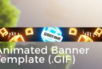 """Minecraft Animated Server Banner Template """"drop The Blocks"""" throughout Minecraft Server Banner Template"""
