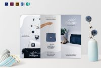 Minimal Product Brochure Design Template In Psd Illustrator throughout Product Brochure Template Free