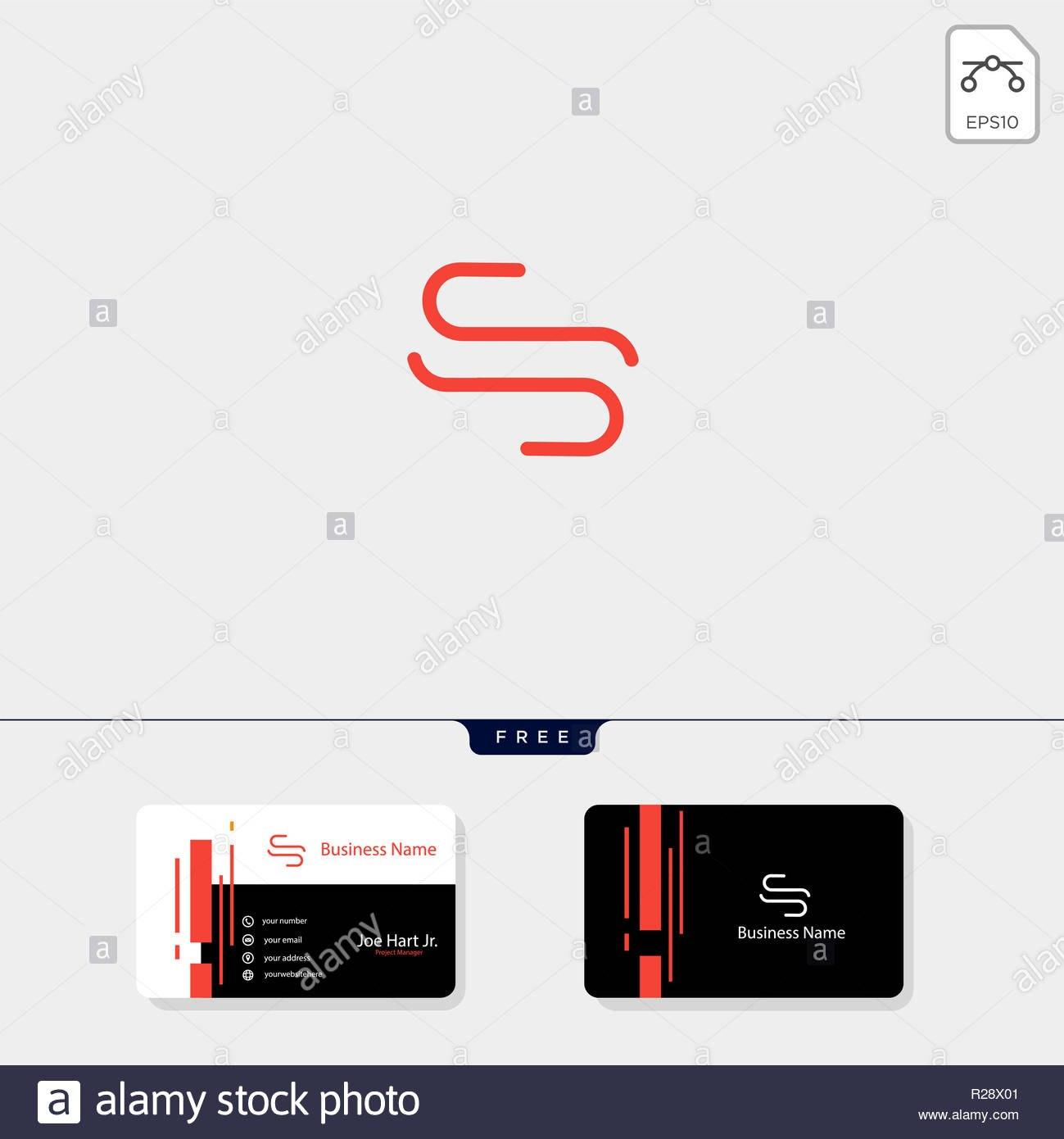 Minimale S Oder Ss Erste Logo Template Vector Illustration Erhalten Throughout Ss Card Template