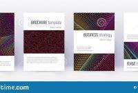 Minimalistic Brochure Design Template Set Rainbow Stock Vector intended for Wine Brochure Template
