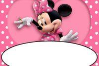 Minnie Mouse Birthday Invitation Template Free Download  Invitation with regard to Minnie Mouse Card Templates