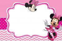 Minnie Mouse Invitation Card Design  Jmj In   Mickey Mouse within Minnie Mouse Card Templates