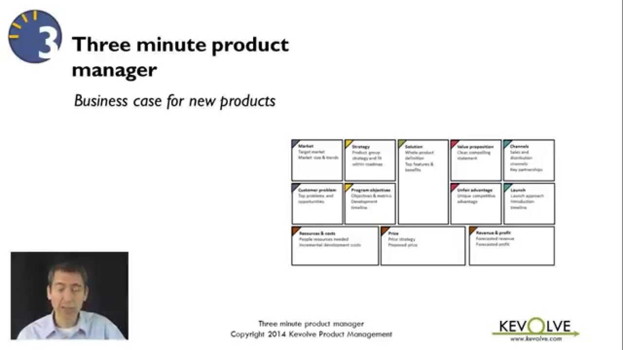 Minute Product Manager Business Case For New Products  Youtube Pertaining To Product Development Business Case Template