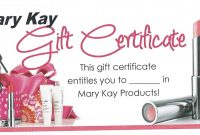Mk Gift Certificate …  My Mk In … with Mary Kay Gift Certificate Template