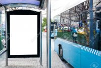 Mock Up Billboard Banner Template At Bus Shelter Media Outdoor pertaining to Street Banner Template